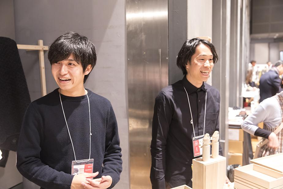 [山の形]のデザイナー須藤修さん[左]と柴山修平さん[右]
