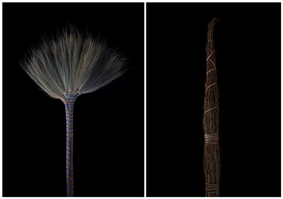 2016年「KG+」に出展したヤン・カレン〈Rhythm of Nature〉シリーズより。様々な国の箒をモチーフにしている。 ©Yan Kallen