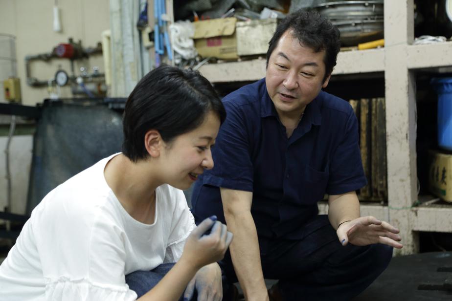 今回教えて頂いた本藍染 雅織工房代表の中西秀典さん。藍の知識をたくさん教えて頂きました。