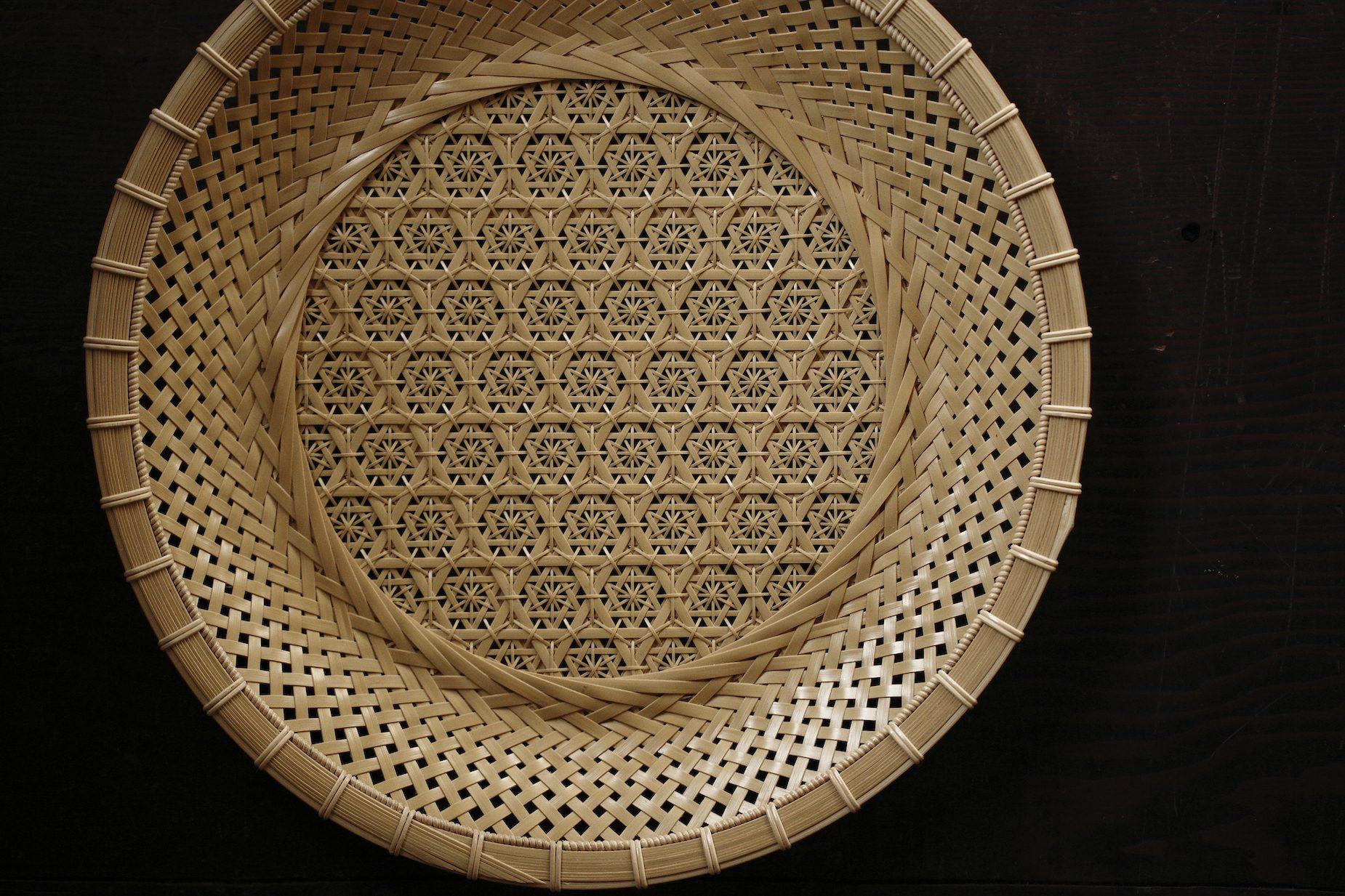 白竹牡丹透かし模様菓子器。