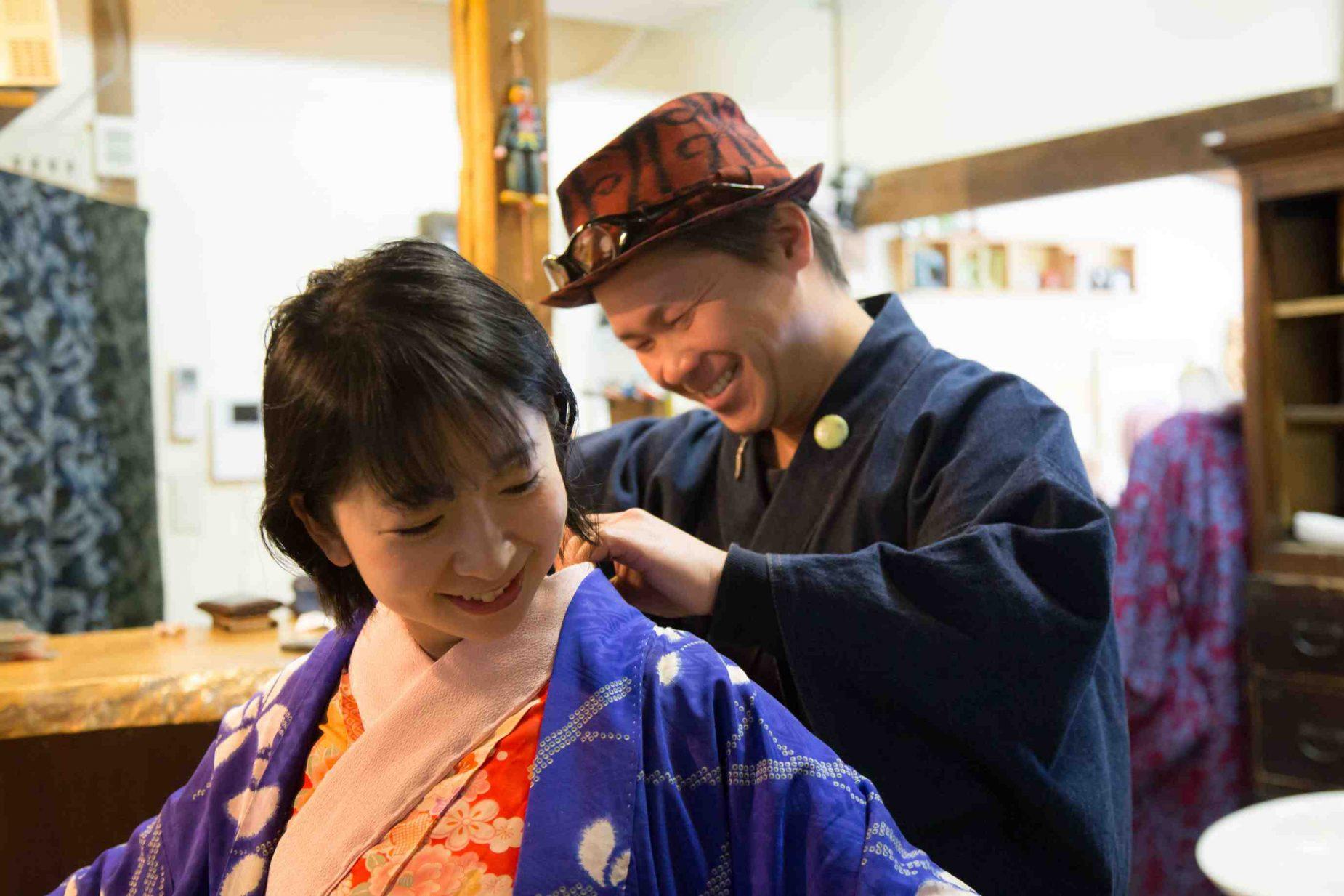 着付けをして下さったのは宮川徳三郎商店の4代目店主となる着付け師の宮川徳三郎さん。