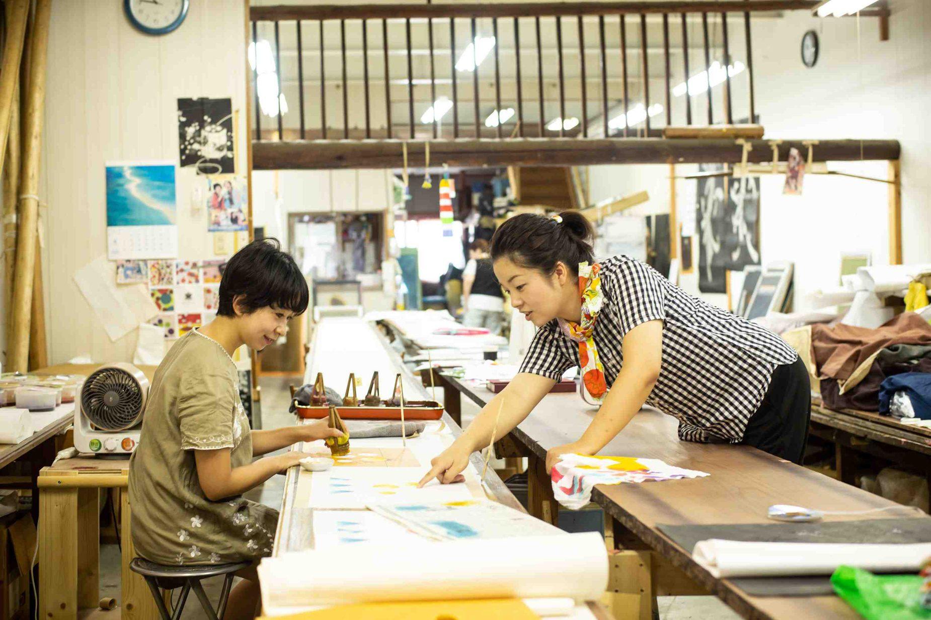 今回教えて下さった山元染工場の山元桂子さん。