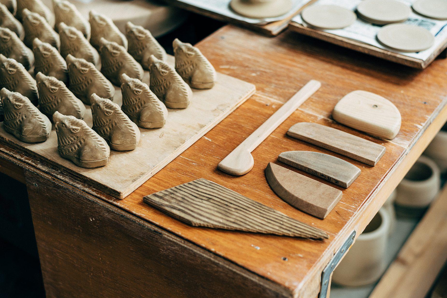 道具は全て手作りのものを使っている。