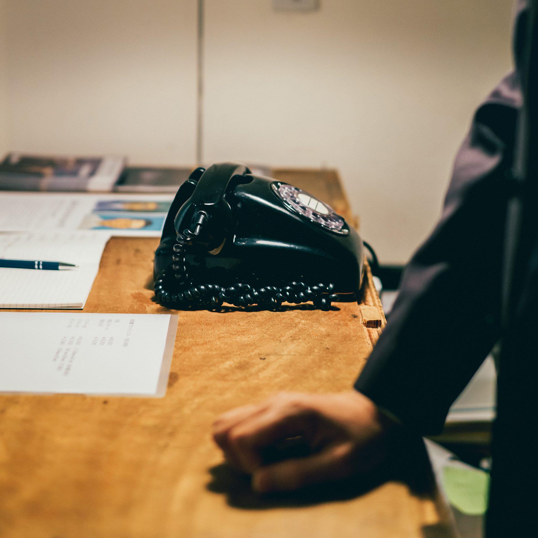 森岡書店で実際に使われている黒電話